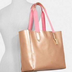 Coach Derby Tote New Rose Gold